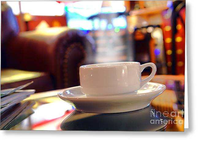 Cafe Greeting Cards - Internet Cafe Greeting Card by Olivier Le Queinec