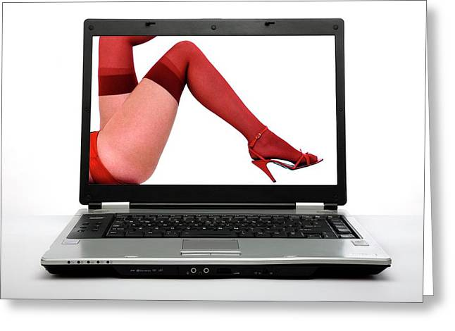 Internet Pornography Greeting Card by Victor De Schwanberg