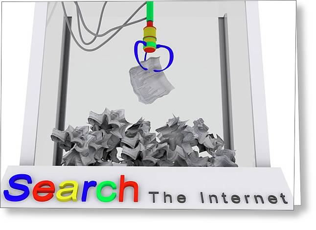 Internet Search Engine Greeting Card by Christian Darkin