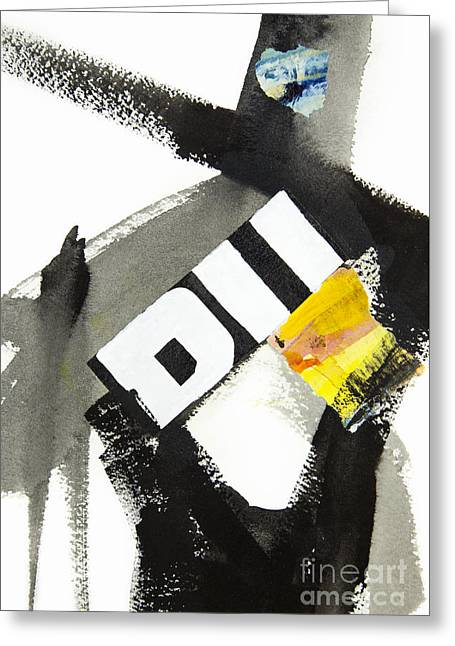 Abstractions Mixed Media Greeting Cards - Interrupted Greeting Card by Elena Nosyreva