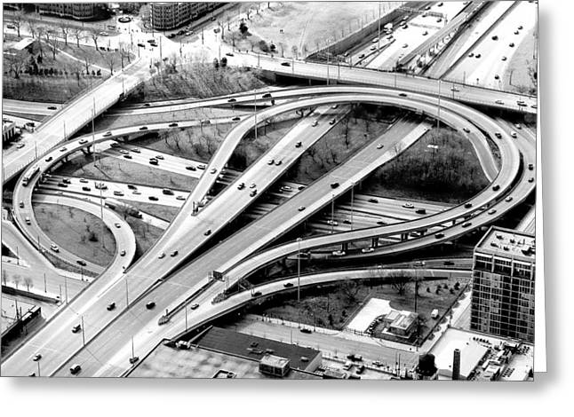Chicago Circle Greeting Cards - Intersection Greeting Card by Admir Gorcevic