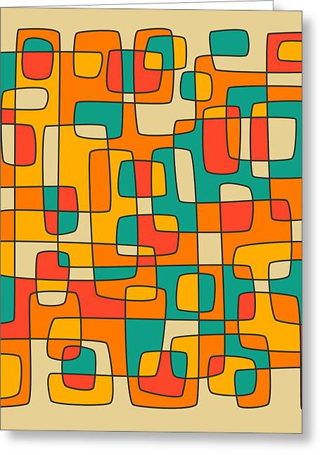 Abstract Colourful Greeting Cards - Intersections Greeting Card by Jazzberry Blue