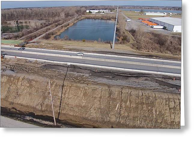 Road Travel Greeting Cards - Interstate 75 Construction Ohio Aerial Greeting Card by Dan Sproul