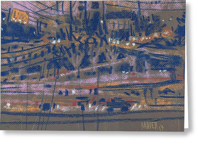 Highway Drawings Greeting Cards - Interstate Seventy Five Greeting Card by Donald Maier