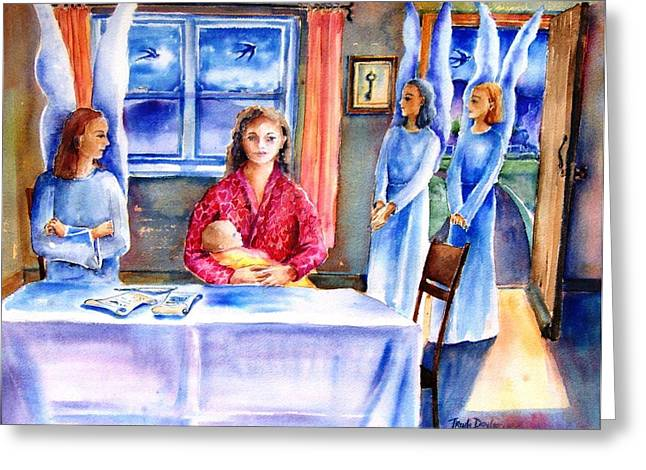 Interview For A Guardian Angel  Greeting Card by Trudi Doyle