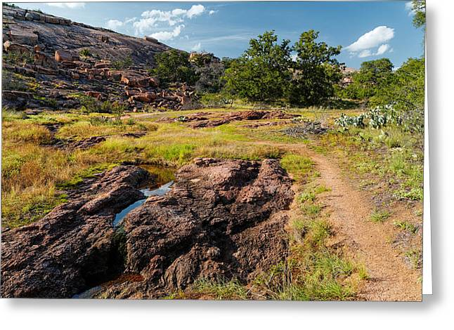 Enchanting Wall Art Greeting Cards - Intimacy at Enchanted Rock - Fredericksburg Llano - Texas Hill Country Greeting Card by Silvio Ligutti