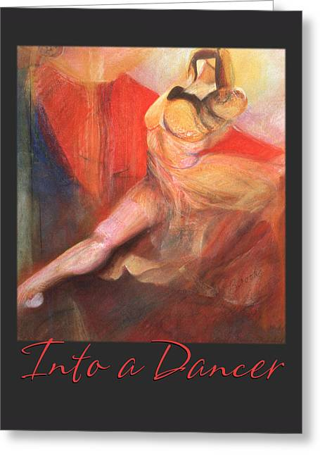 Ballet Dancers Pastels Greeting Cards - Into a Dancer Greeting Card by Brooks Garten Hauschild