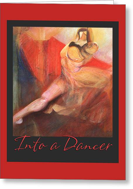 Dancing Girl Pastels Greeting Cards - Into a Dancer Greeting Card by Brooks Garten Hauschild