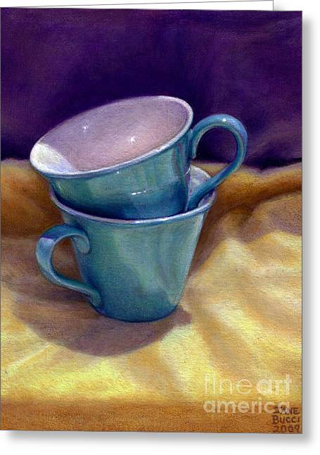 Occupy Greeting Cards - Into Cups Greeting Card by Jane Bucci
