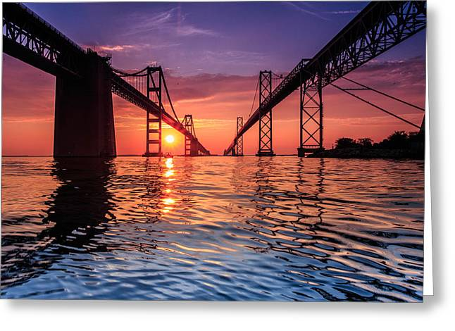 Annapolis Greeting Cards - Into Sunrise 2 Greeting Card by Jennifer Casey