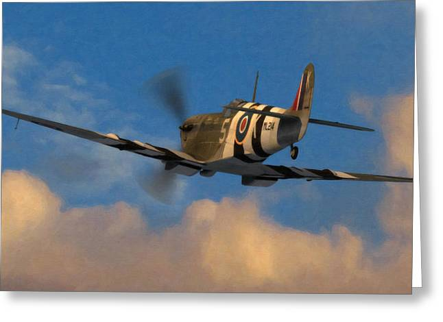 Spitfire Greeting Cards - Into the Blue Greeting Card by Dale Jackson