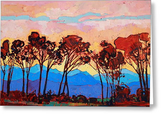 Willamette Greeting Cards - Into the Blue Greeting Card by Erin Hanson