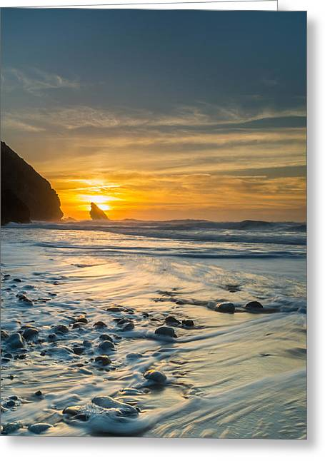 Beach Stones. Colorful Rocks Greeting Cards - Into The Blue I Greeting Card by Marco Oliveira