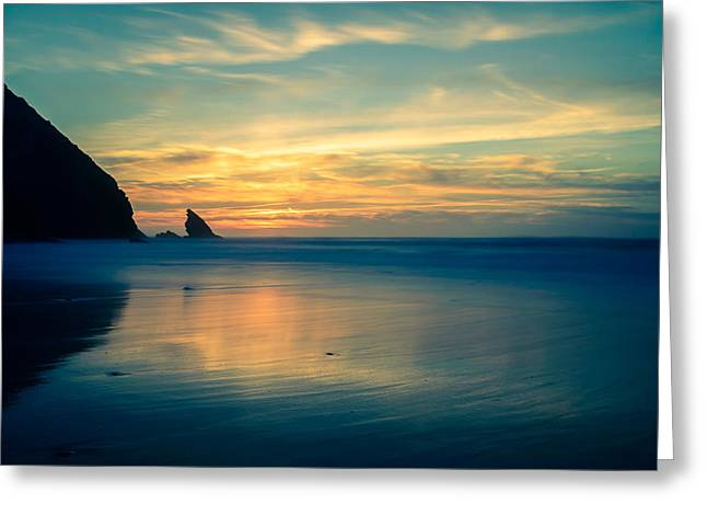 Beach Stones. Colorful Rocks Greeting Cards - Into The Blue III Greeting Card by Marco Oliveira