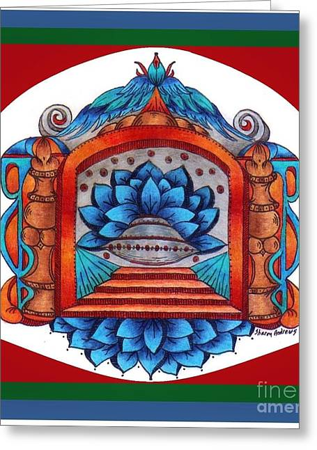 Mystic Art Drawings Greeting Cards - Into the Blue Greeting Card by Sharon Andrews
