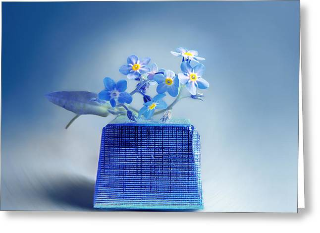 """forget Me Not"" Greeting Cards - Into The Blue Greeting Card by Vesna Viden"