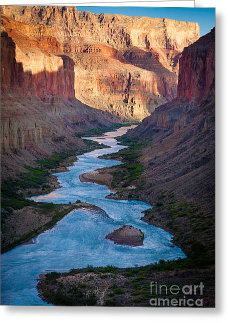 Grand Canyon State Greeting Cards - Into the Canyon Greeting Card by Inge Johnsson