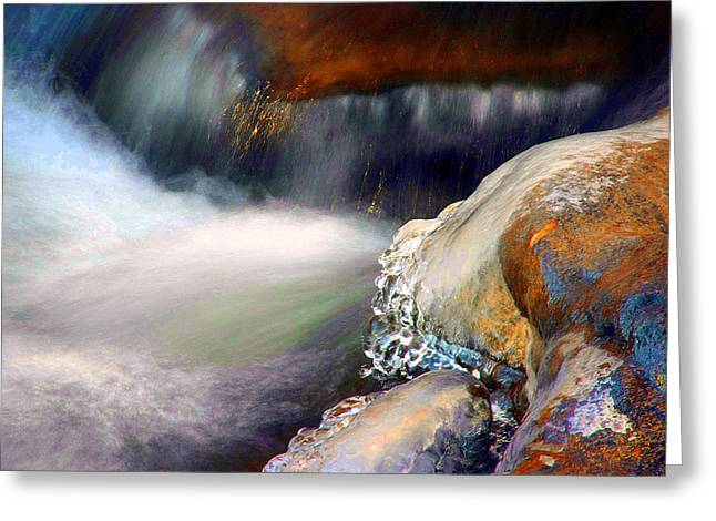 Philosophical Movement Greeting Cards - Into the Canyon Greeting Card by Mike Flynn