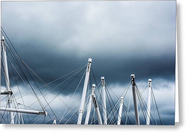 Grey Clouds Greeting Cards - Into The Clouds Greeting Card by Parker Cunningham