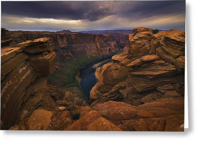 Glen Canyon National Recreation Area Greeting Cards - Into the Colorado Greeting Card by Peter Coskun
