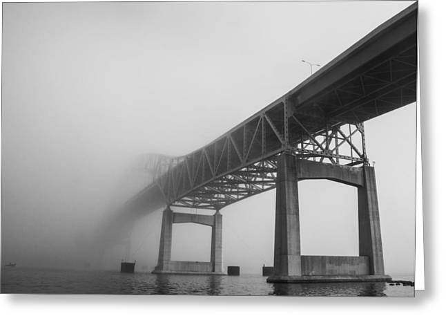 Hidden Corners Greeting Cards - Into The Fog Greeting Card by Blake Johnston