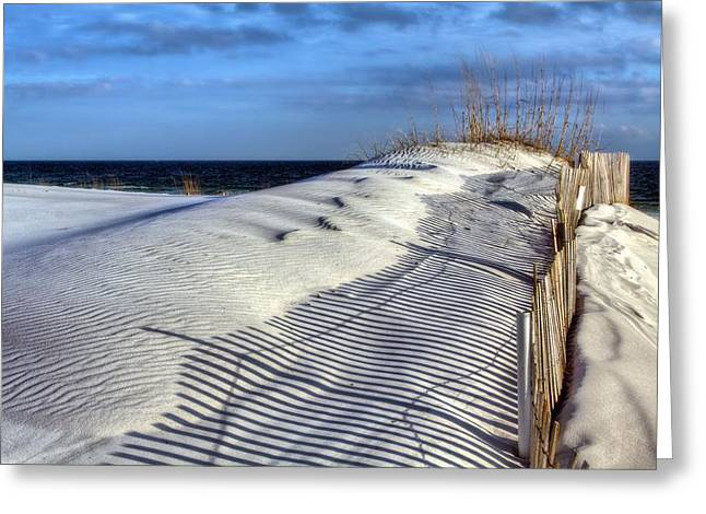 Florida Panhandle Greeting Cards - Into the Gulf Greeting Card by JC Findley