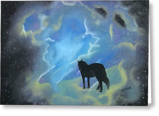 Outerspace Pastels Greeting Cards - Into The Kingdom Greeting Card by Stephanie Harding