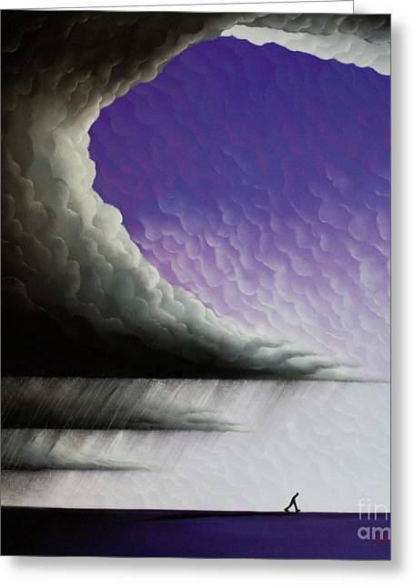 Storm Clouds Pastels Greeting Cards - Into The Light 3 Greeting Card by Chris Mackie