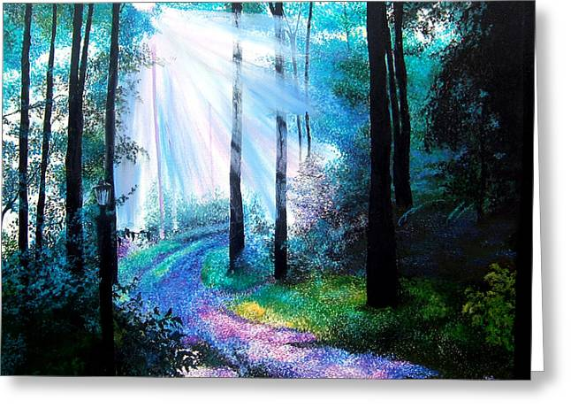 Into The Light. Greeting Card by Jennifer  Blenkinsopp