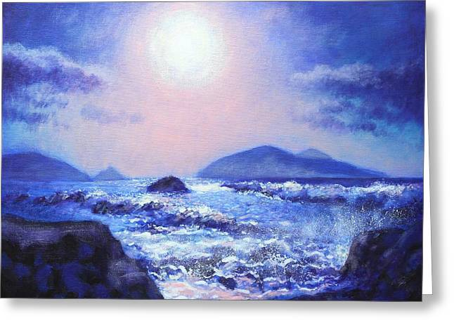 Acrylic Greeting Cards - Into The Light Greeting Card by John  Nolan