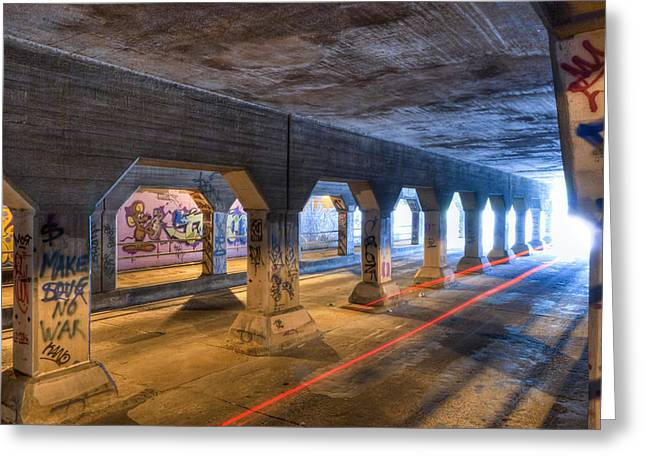 Mark Tisdale Greeting Cards - Into The Light - Krog Street Tunnel Greeting Card by Mark Tisdale