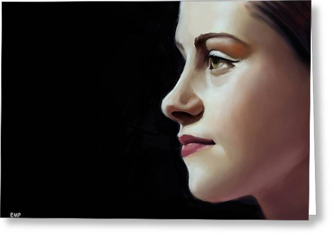 Kristen Stewart Greeting Cards - Into The Light Greeting Card by Lisa Pence