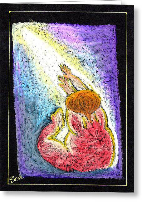 Jesus Pastels Greeting Cards - Into The Light  Greeting Card by Lyn Blore Dufty
