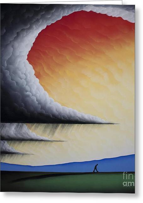 Storm Clouds Pastels Greeting Cards - Into The Light V Greeting Card by Chris Mackie