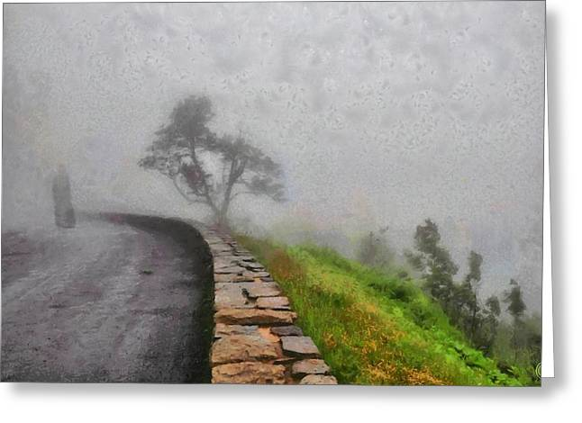 Into The Mist Greeting Card by Gun Legler