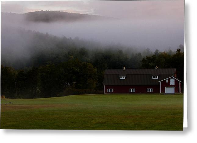 Massachussetts Greeting Cards - Into the Mist Greeting Card by Kathleen Odenthal