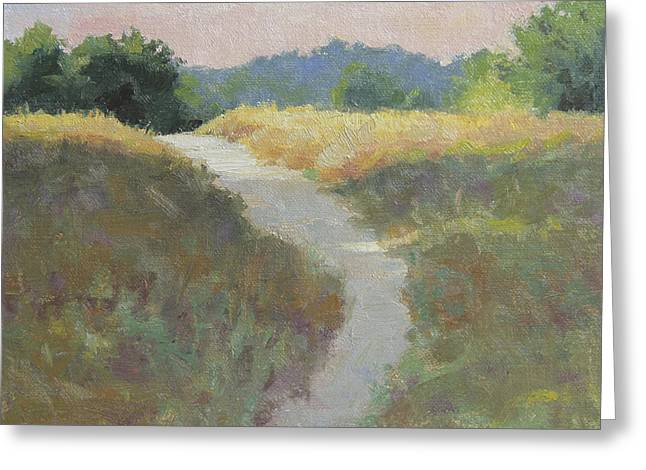 Gravel Greeting Cards - Into the Morning Light Greeting Card by Anna Bain