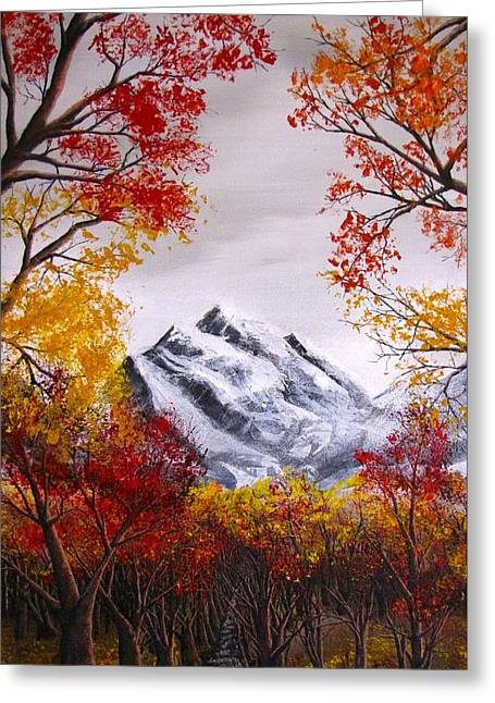 Erik Coryell Greeting Cards - Into The Mountains Greeting Card by Erik Coryell