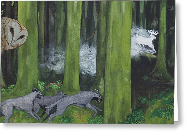 Druidic Greeting Cards - Into The Mystic Greeting Card by Owen Bright