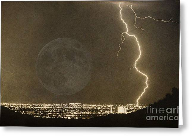 Lightning Photography Photographs Greeting Cards - Into the night Greeting Card by James BO  Insogna