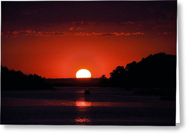 South Boston Prints Greeting Cards - Into The Night Greeting Card by Joanne Brown