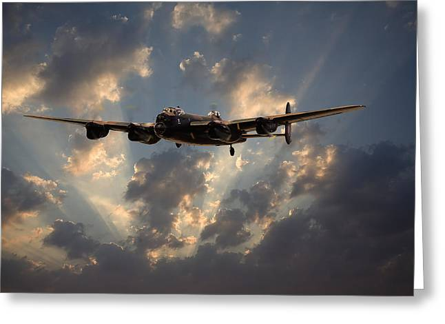 Lancasters Greeting Cards - Into the Night Greeting Card by Pat Speirs