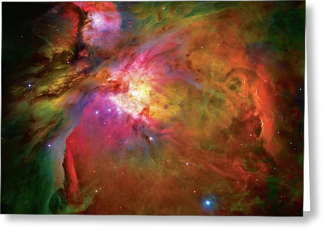 Reds Greeting Cards - Into the Orion Nebula Greeting Card by The  Vault - Jennifer Rondinelli Reilly