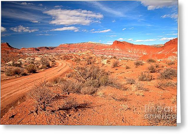 Paria Greeting Cards - Into The Paria Badlands Greeting Card by Adam Jewell
