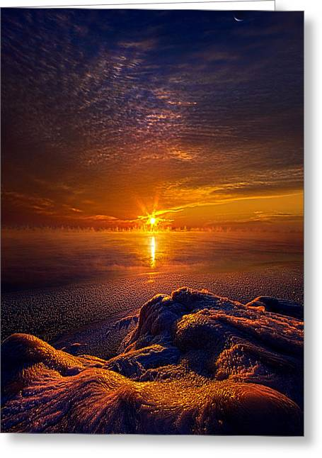 Geographic Greeting Cards - Into the Soul of Winter Greeting Card by Phil Koch