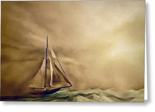 Into The Storm Greeting Card by Lonnie Christopher