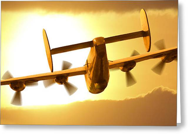 Fighters Greeting Cards - Into the Sun 3 Greeting Card by Mike McGlothlen