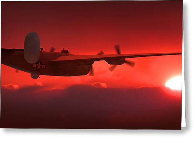 Fighters Greeting Cards - Into the Sun Greeting Card by Mike McGlothlen