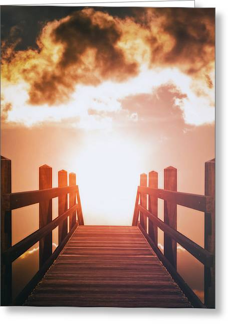Composite Art Greeting Cards - Into The Sun Greeting Card by Wim Lanclus