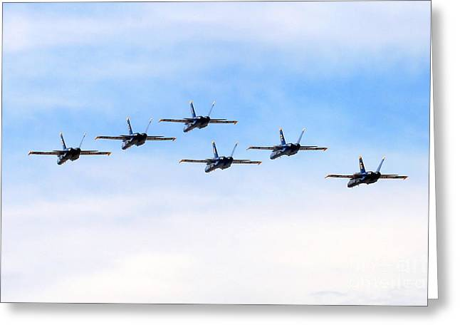 Military Airplanes Greeting Cards - Into the Sunset Greeting Card by Bob Hislop